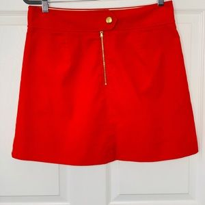 J. Crew Mini Red Skirt Sz 8